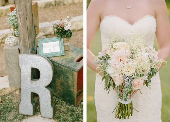 Light Blue Country Wedding with Rustic and DIY Details 16