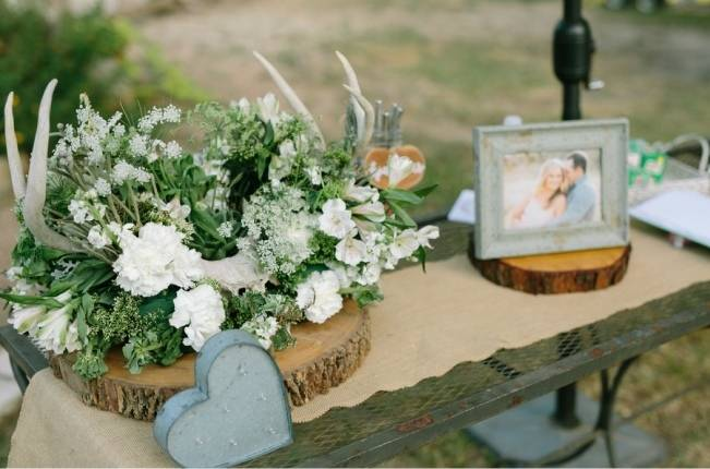 Light Blue Country Wedding with Rustic and DIY Details 17
