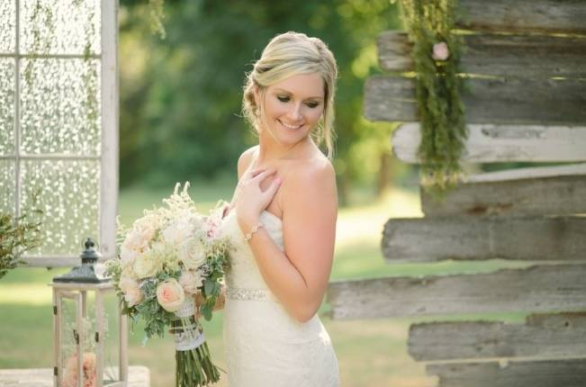Light Blue Country Wedding with Rustic and DIY Details 5