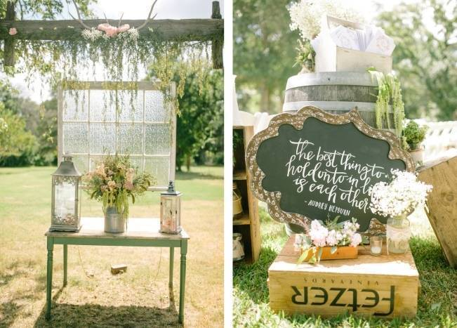 Light Blue Country Wedding with Rustic and DIY Details 8