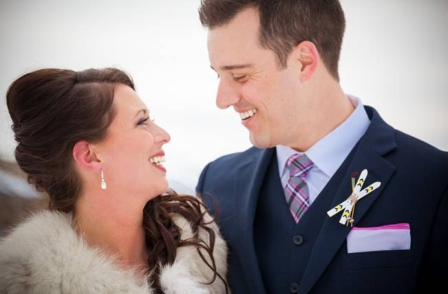 Snowy Winter Wedding in Vermont {Kathleen Landwehrle Photography} 5
