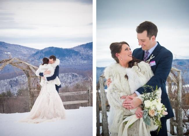 Snowy Winter Wedding in Vermont {Kathleen Landwehrle Photography} 6