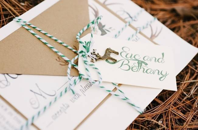 Deer Themed Woodland Wedding {Allie Siarto Photography} 3