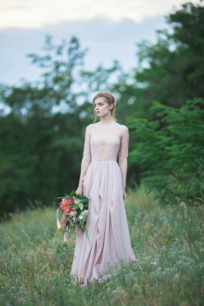 Blush Wedding Dress - Magnolia $755 - CarouselFashion.etsy.com