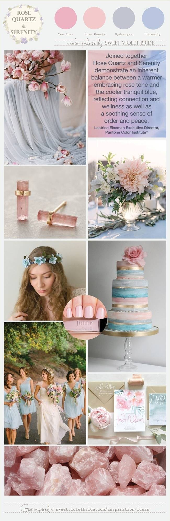 Rose Quartz and Serenity Wedding Palette