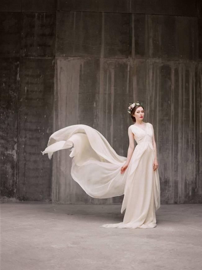 Zlata Gown - $790 Milamirabridal.etsy.com