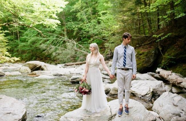 Styled Vermont Waterfall Elopement 1