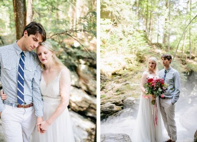 Styled Vermont Waterfall Elopement 10