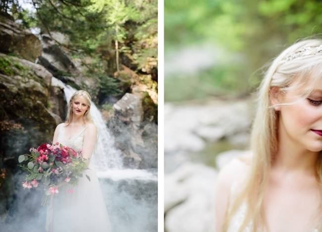 Styled Vermont Waterfall Elopement 12