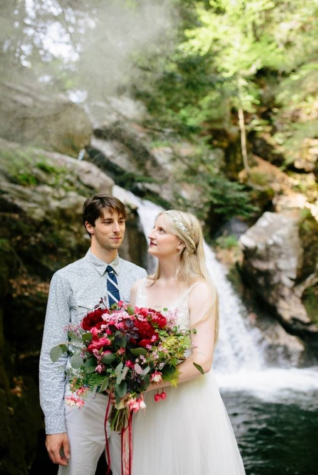 Styled Vermont Waterfall Elopement 9