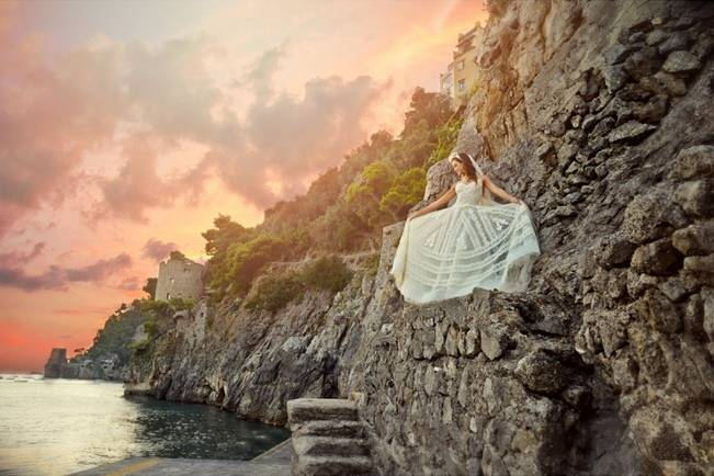 Romantic Positano, Italy Bridal Shoot 14
