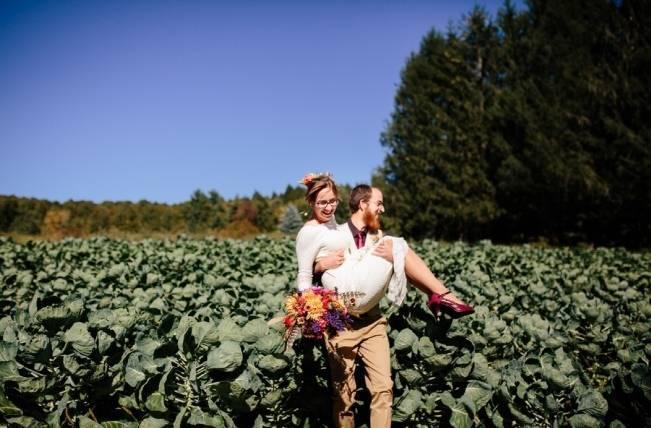 Folksy Supermoon Farm Wedding in Vermont 26