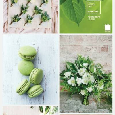 Wedding Color Palette: Greenery {Pantone Color of 2017}