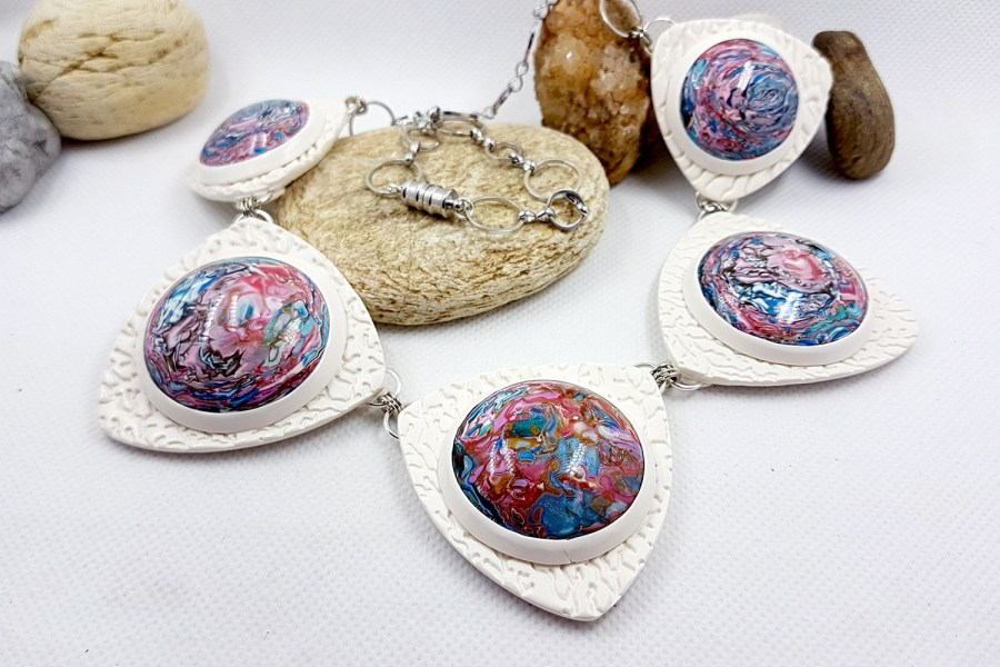 Earth in the porthole Jewelry set 05