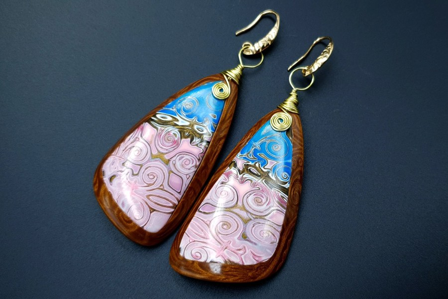 Pink Sunset Earrings 09