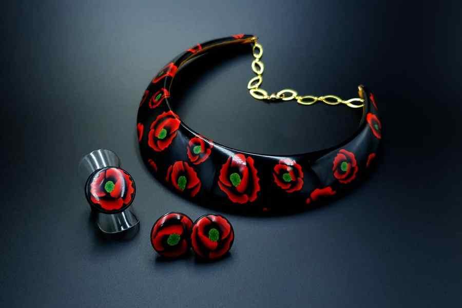 Poppies Field Jewelry Set 03