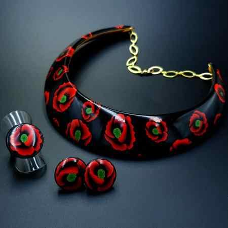 """Poppies Field"" Jewelry Set"