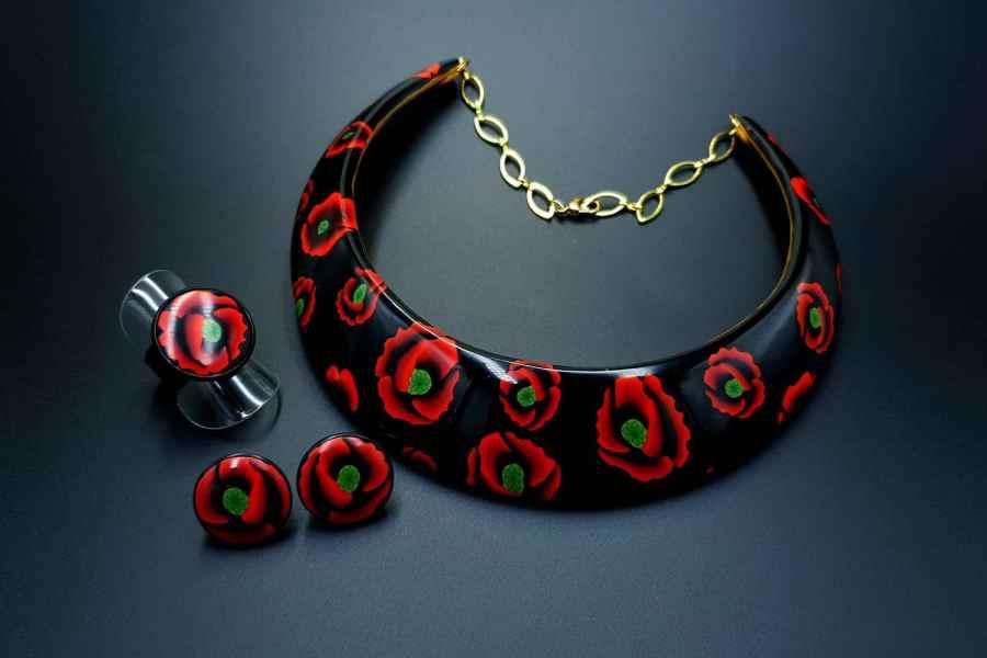 Poppies Field Jewelry Set 11