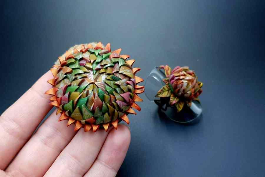 Prickly flower Jewelry Set 01