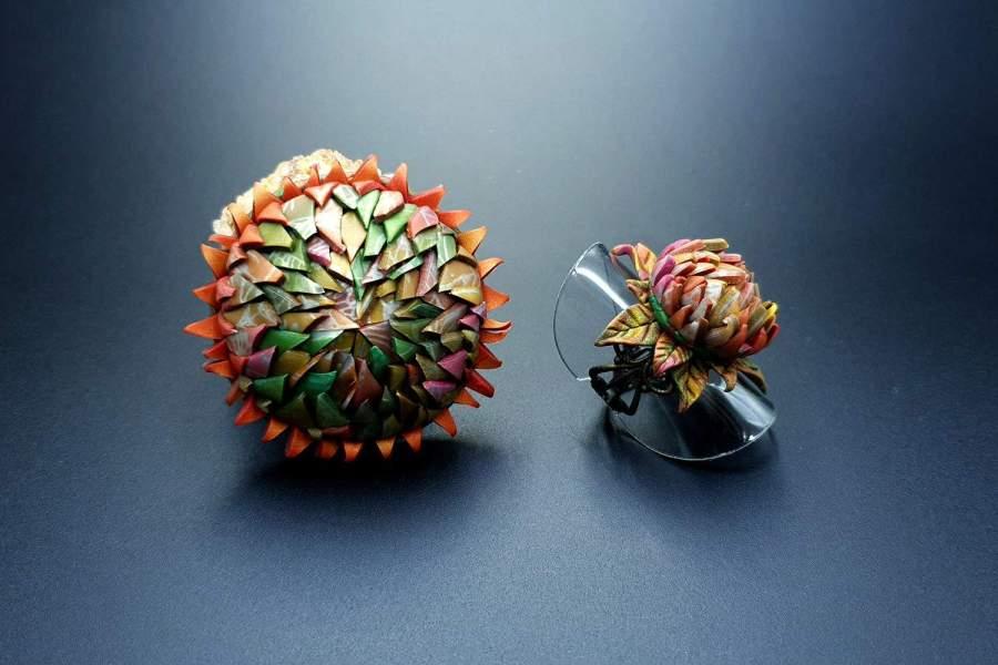 Prickly flower Jewelry Set 04