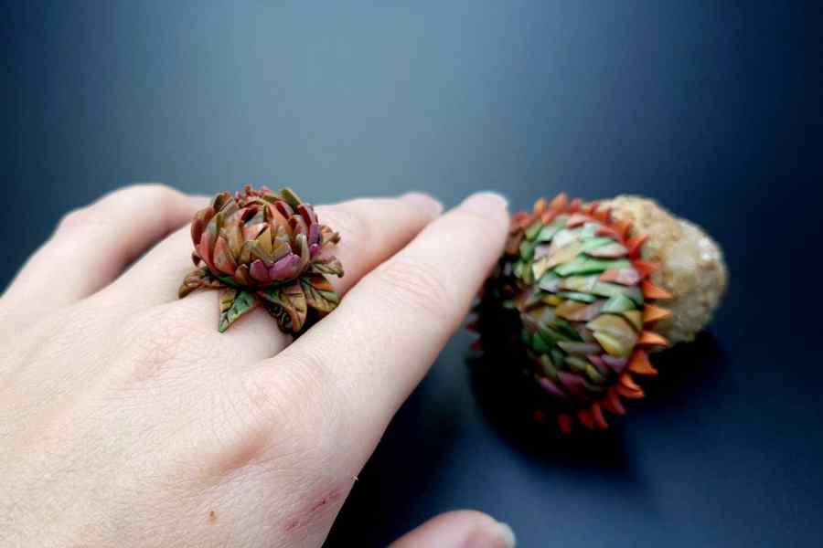 Prickly flower Jewelry Set 06