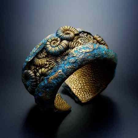 Fossilized Treasure Bracelet Cuff
