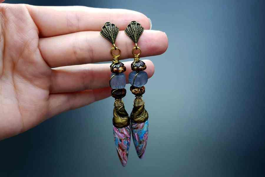 Rainbow Drops Earrings 05