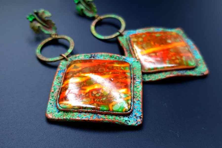 Rusted Metal Earrings 08