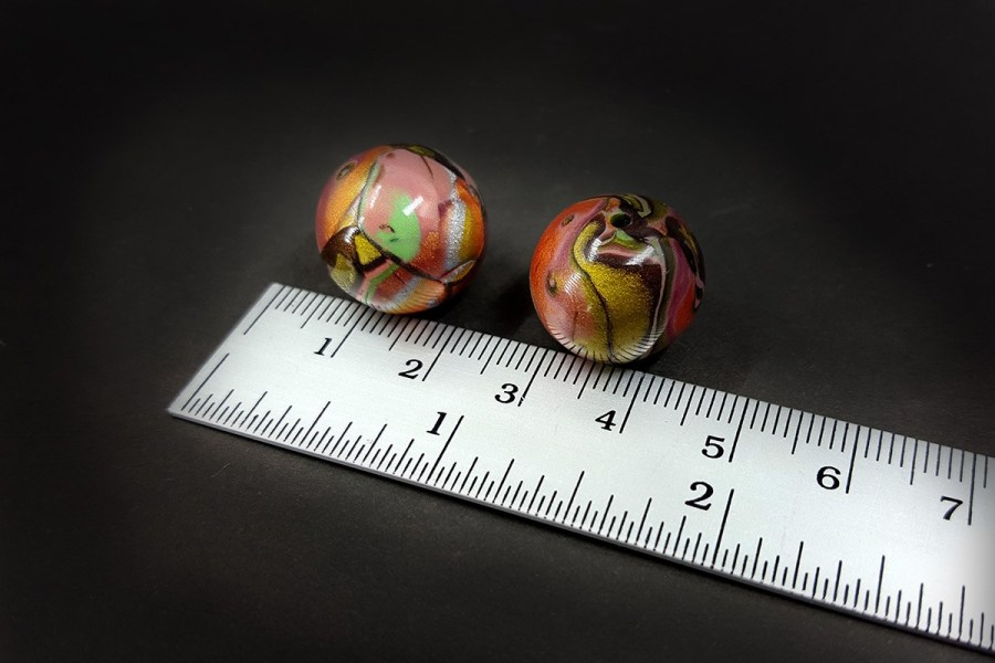 2 pcs Beads from Polymer Clay by Mokume Gane Technique p04