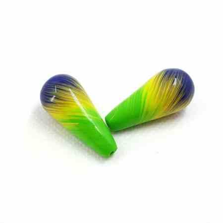 2 Earrings Beads by Millefiori Technique