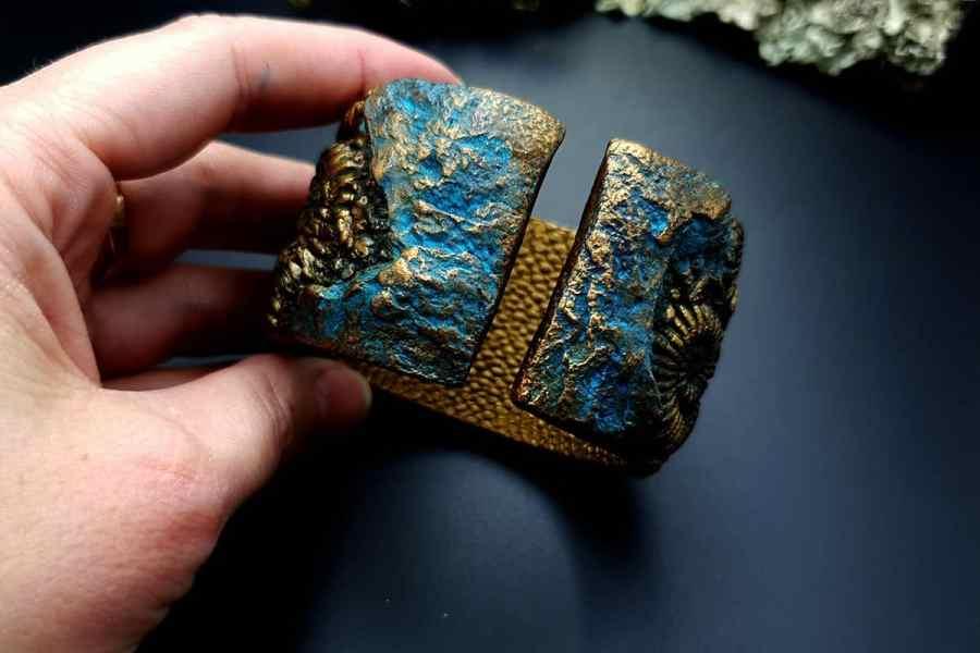Bracelet Cuff Ammonites img08
