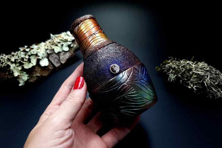 Faux Raku Style Vase 20191012_211338