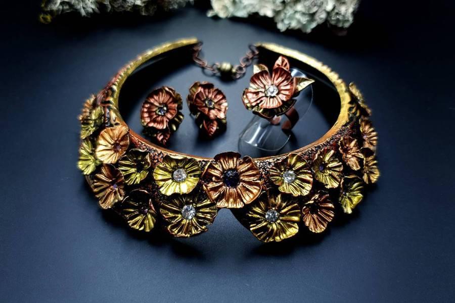 Flowers in Metal 2 Jewelry Set 20191011_135813