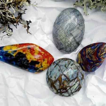 4 pcs Labradorite Pietersite Stone Mix (Set #4)