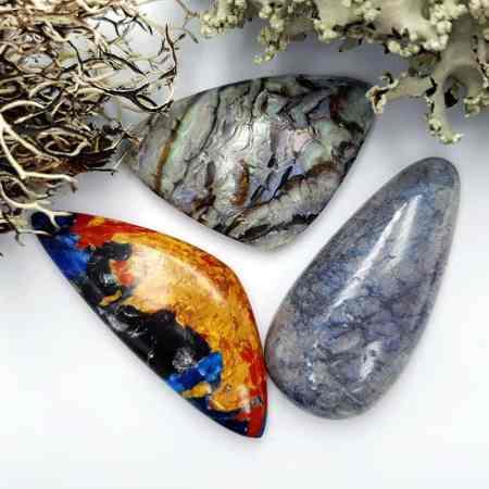3 pcs Labradorite Pietersite Stone Mix (Set #6)