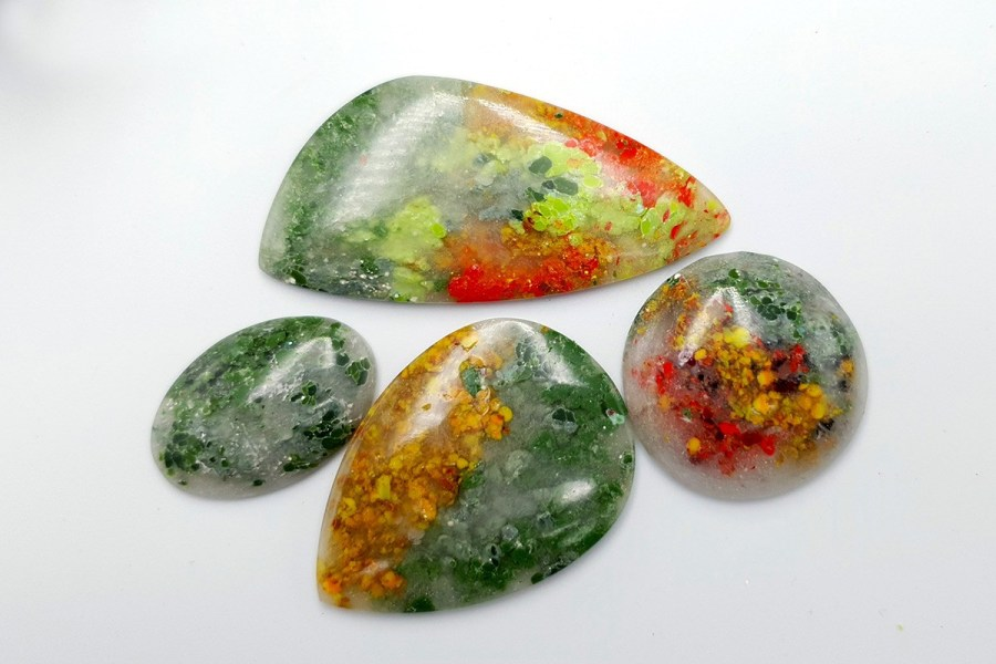 Polymer Clay Moss Agate Set 02 p01