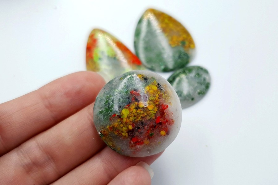 Polymer Clay Moss Agate Set 02 p08