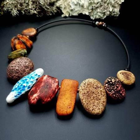 "Polymer Clay Necklace ""Miss Flintstone"""