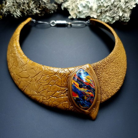 Polymer Clay Necklace #16