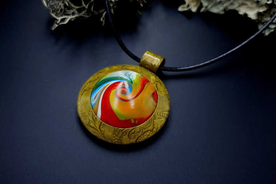 Polymer clay Pendant 20191009_203814