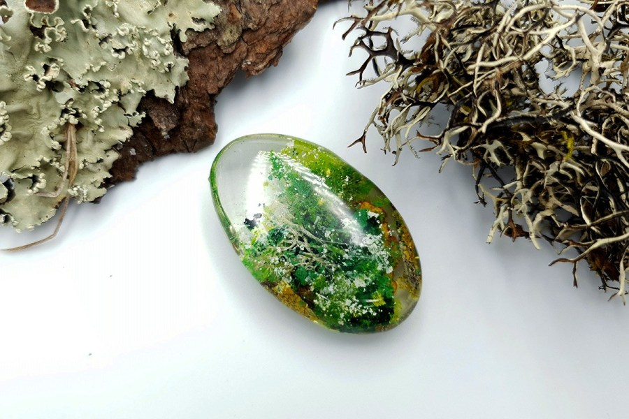 UV Resin Faux Moss Agate Set 01 p01