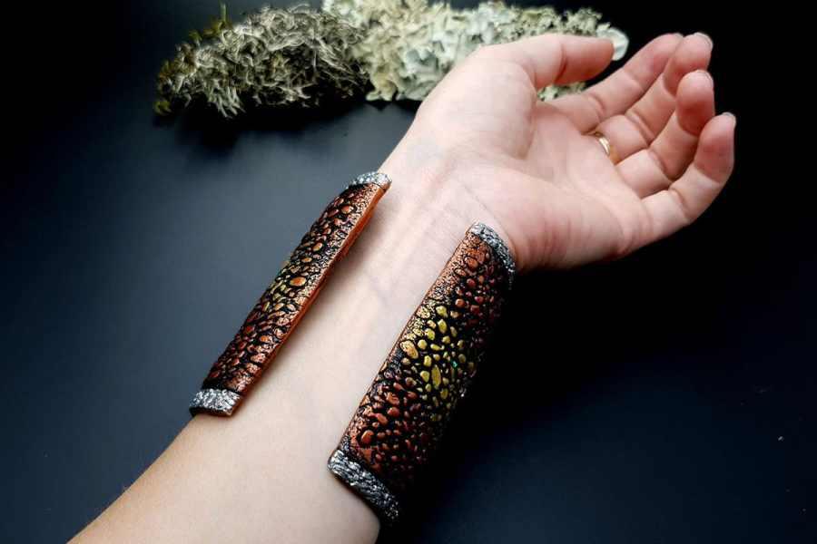 Wide Bracelet Cuff River Stones img11