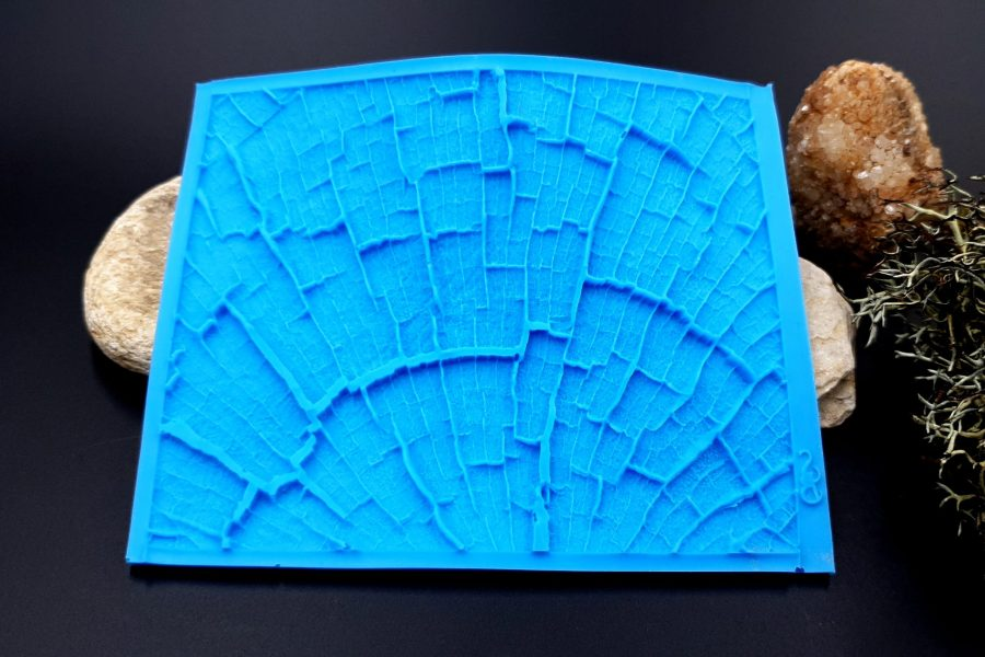 Silicone Texture Cracked Wood - 110x85mm 12