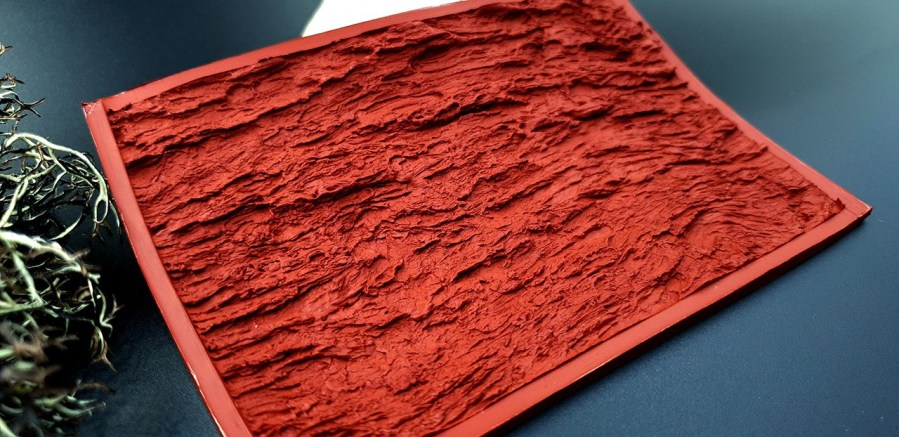 Silicone Texture Bark of Thai Pine Tree #1 - 135x90mm 1