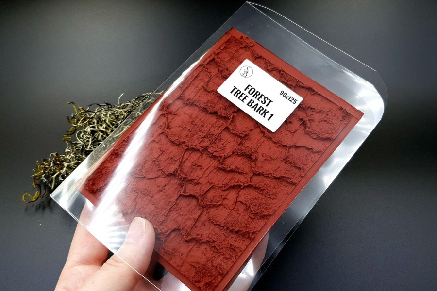 Silicone Texture Forest Tree Bark #1 - 125x90mm