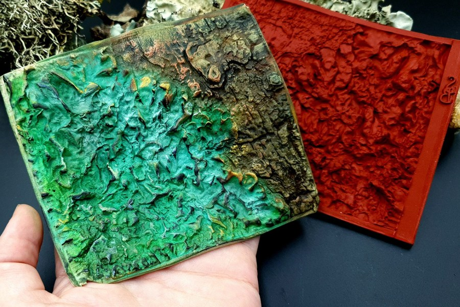 Silicone Texture Forest Lichens - 115x100mm 6