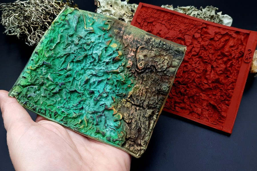 Silicone Texture Forest Lichens - 115x100mm 1