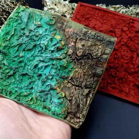 Silicone Texture Forest Lichens – 115x100mm