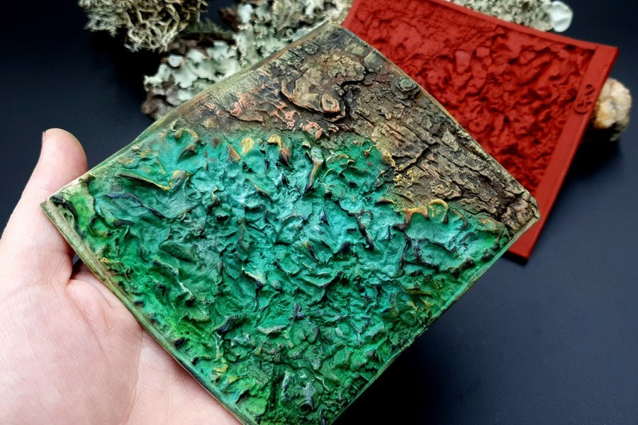 Silicone Texture Forest Lichens - 115x100mm 4