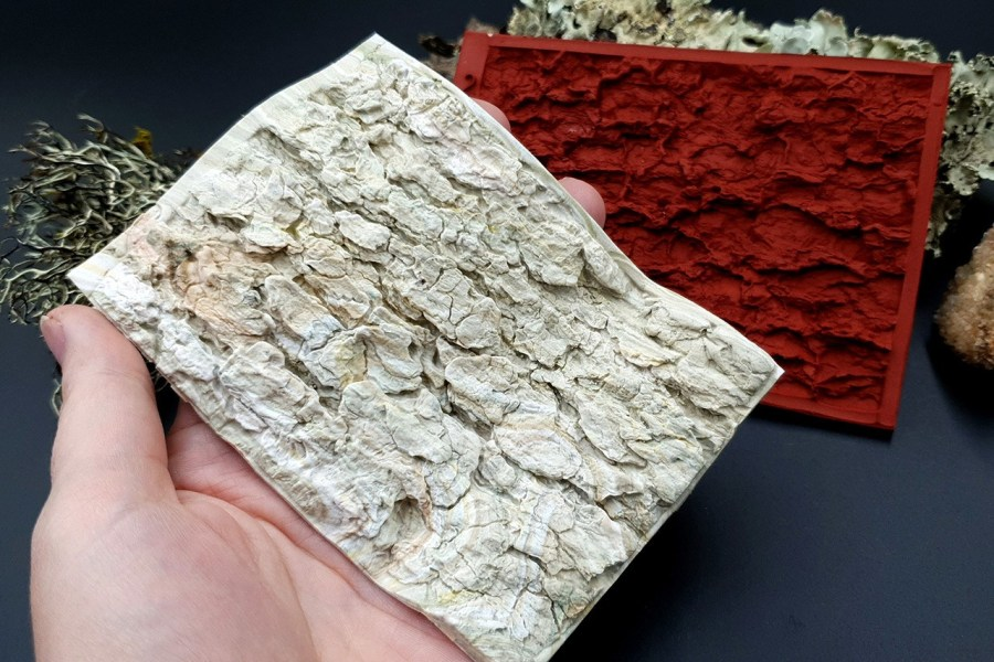 Silicone Texture Tree Bark #2 - 120x80mm 5